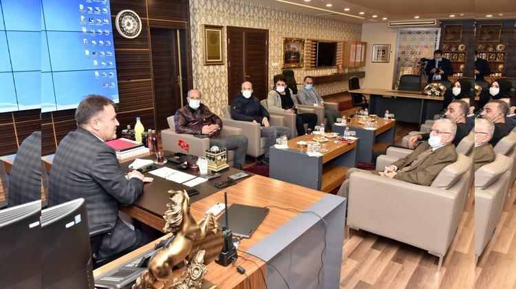Başkan Çimen şehirdeki son gelişmeleri paylaştı