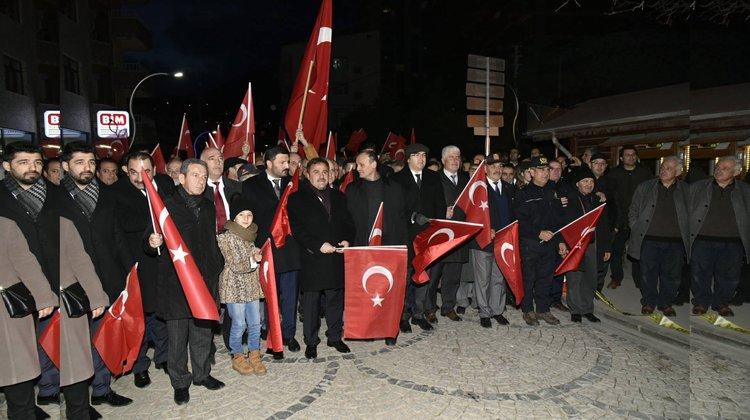 'Kurtuluş ve Şehitlere Saygı Yürüyüşü'
