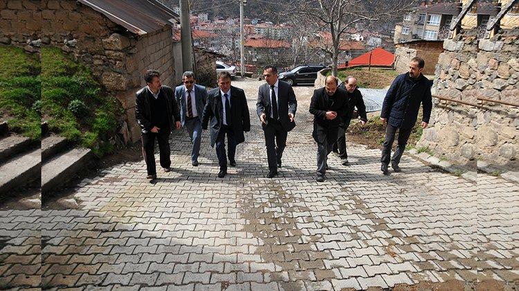 Başkan Çimen, Karaer Mahallesi'nde incelemelerde bulundu
