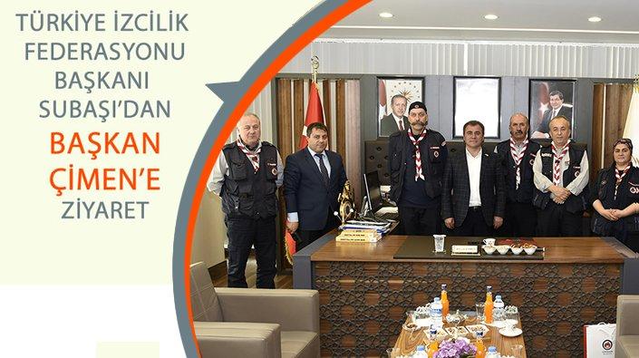 Türkiye İzcilik Federasyonu Başkanı Subaşı'dan Başkan Çimen'e ziyaret