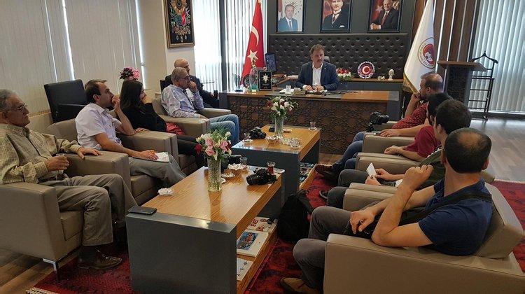 Başkan Çimen Atatürk Parkındaki çalışmaları anlattı
