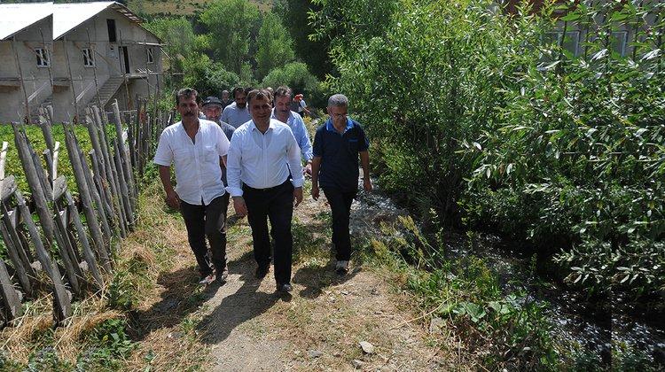 Başkan Çimen, Artabel'deki kaynak suyu inceledi