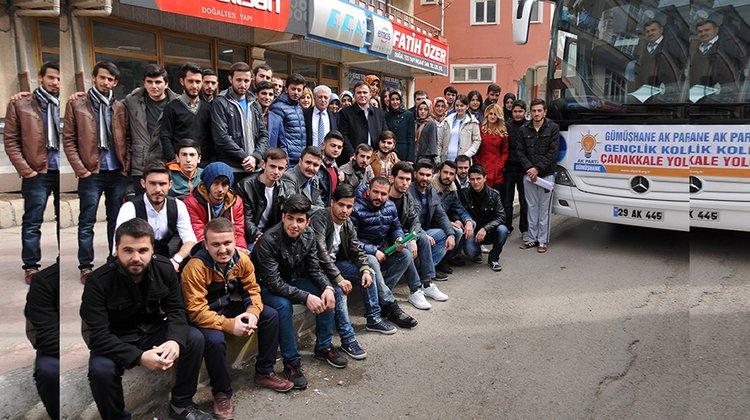 Başkan Çimen, AK Partili Gençleri Çanakkale'ye uğurladı