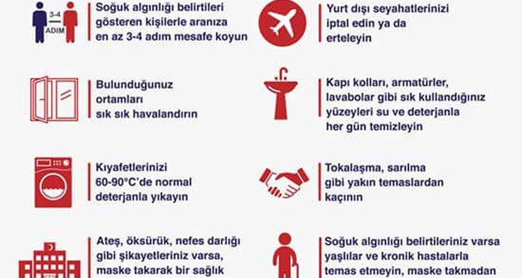 """koronavirüs riskine karşı """"14 Kural"""""""