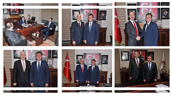 Başkan Çimen'e aday adaylarından ziyaret