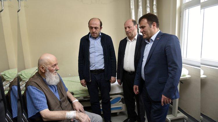 Başkan Çimen'den hasta ziyareti