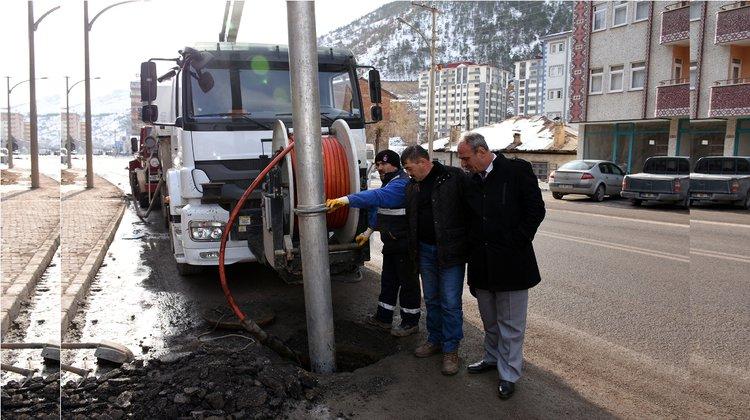 Kanalizasyon hatları temizlendi