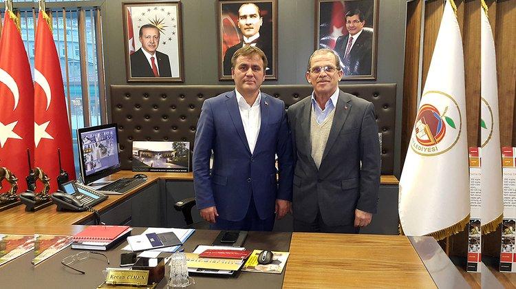Karasoy'dan Başkan Çimen'e veda ziyareti