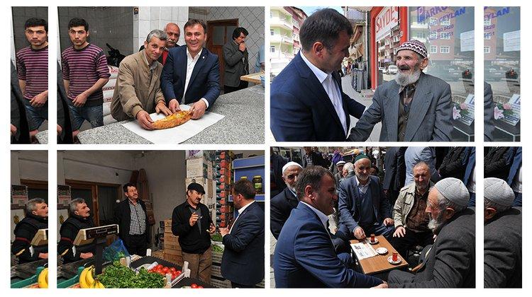 Başkan Çimen, pazaryerini gezdi
