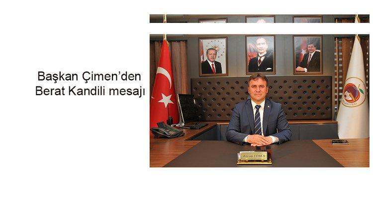 Başkan Çimen'den Berat Kandili mesajı