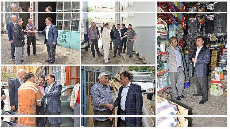 Başkan Çimen'den sanayi esnafına ziyaret