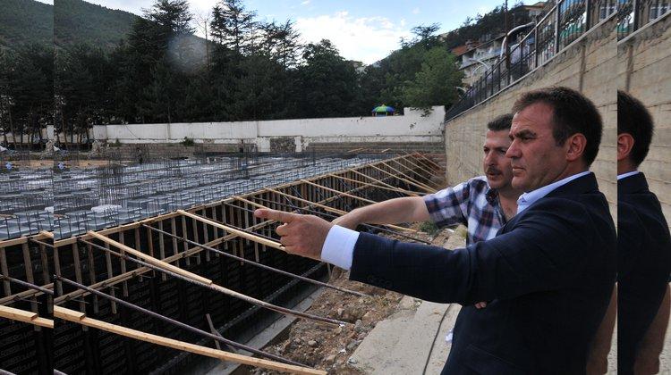 Gençlik Parkı inşaatı sürüyor