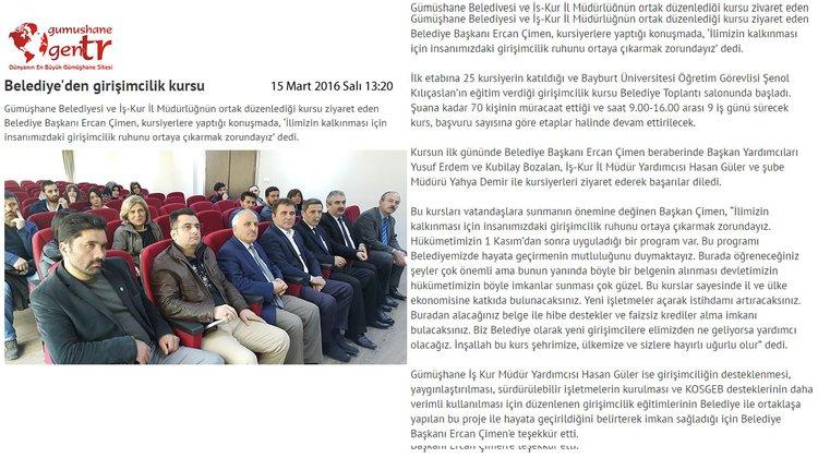 Belediye'den girişimcilik kursu