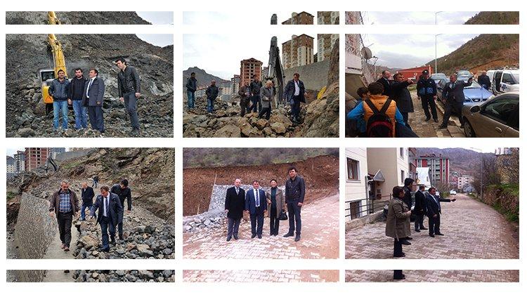 Başkan Çimen, mahallelerde incelemelerde bulundu