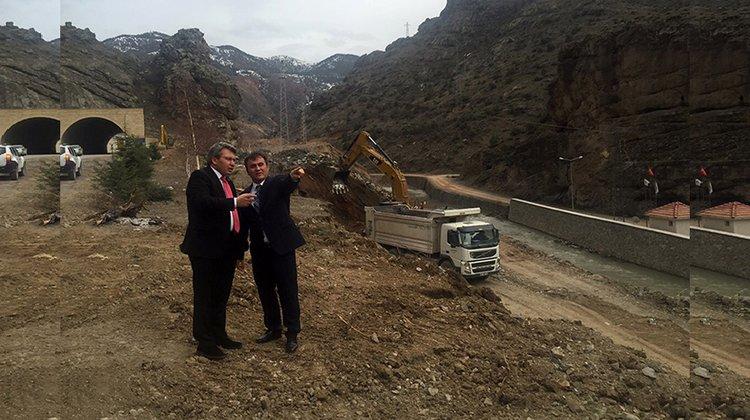 Katı Atık Aktarma İstasyonu ve Atık Su Arıtma Tesisi'ne bağlantı köprüsü yapılıyor