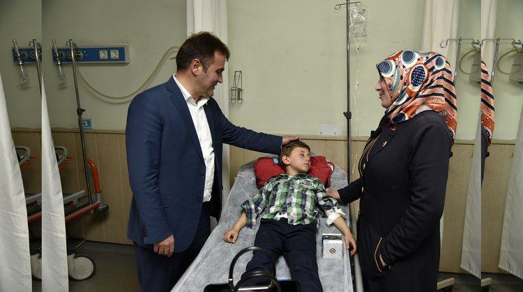 Başkan Çimen, hastaları unutmuyor
