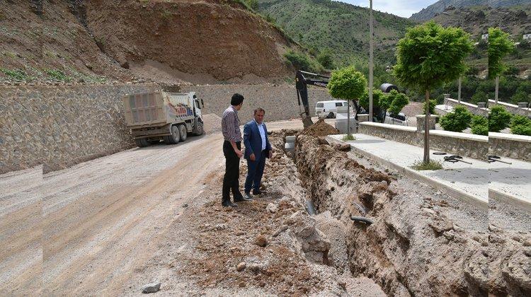 Süleymaniye'ye kanalizasyon hattı döşeniyor
