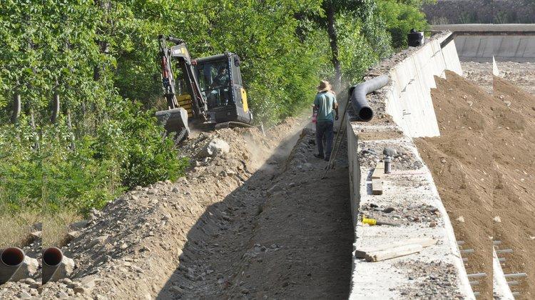 Kanalizasyon projesi sürüyor
