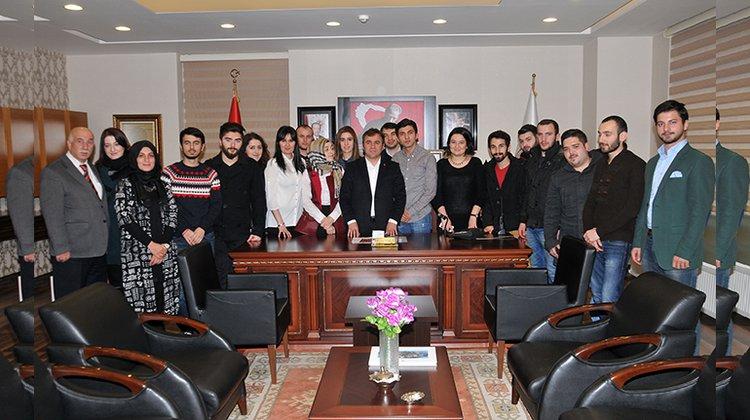 Başkan Çimen, GÜNÖP üyeleri ile bir araya geldi
