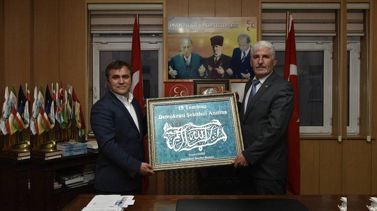 Başkan Çimen'den MHP'ye teşekkür ziyareti